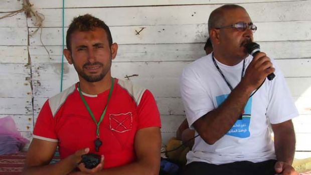 Nasser Abu Mutir (right) is a life guard in Gaza City. <i>Picture: Jason Socrates</i>