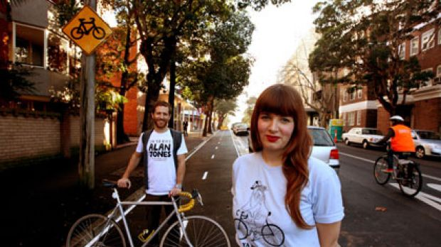 The lane rangers ... Josh Capelin and Georgia Perry, producers of the Sydney Bicycle Film Festival, support cycleways.