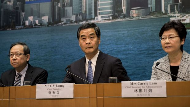 Hong Kong chief executive CY Leung in September.