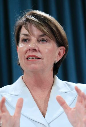 """In the 2012 campaign, Anna Bligh promised jobs for """"100,000 breadwinners in 100,000 Queensland homes""""."""