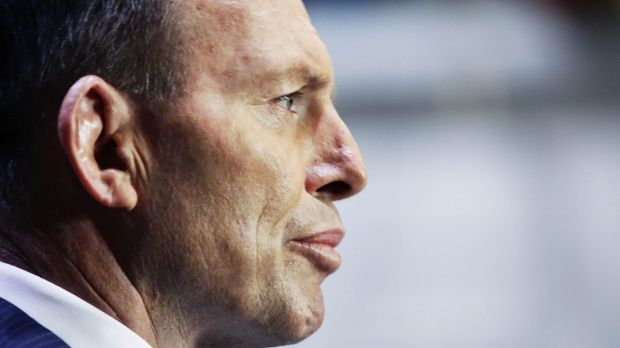 """""""Angry and frustrated"""": Prime Minister Tony Abbott."""