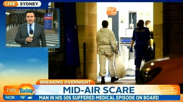 A Jetstar flight from Sydney to Darwin was forced to turn around mid-air when a passenger started vomiting blood.