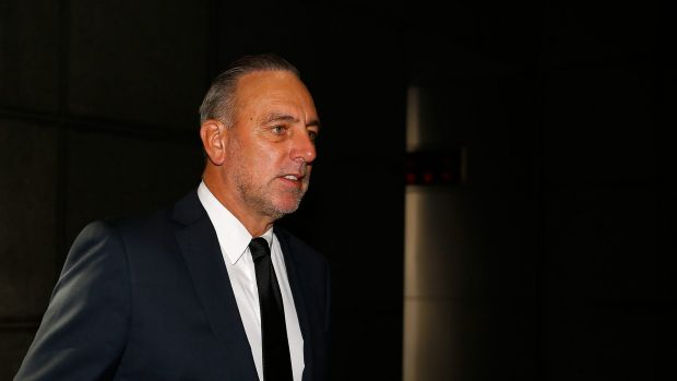 """""""I will never forget that day"""": Brian Houston arrives at the royal commission."""
