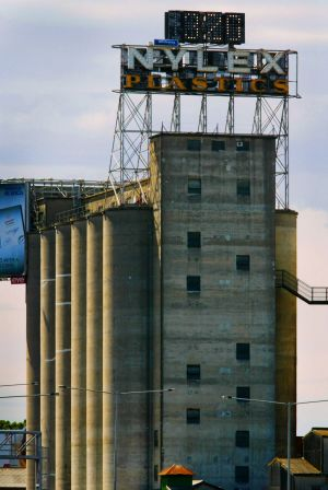 The landmark silos in Richmond that may be demolished.