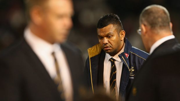 Outcast: Kurtley Beale has been at the centre of the Wallabies controversy.