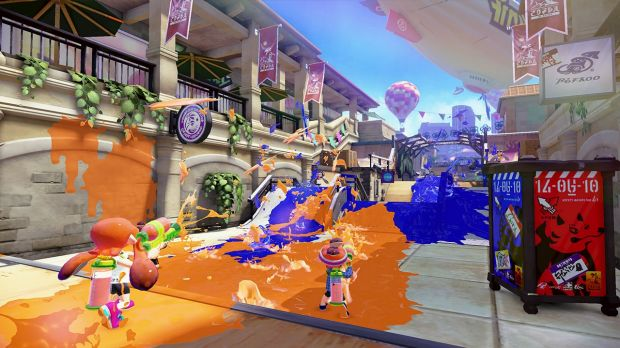 Painting the town blue (or orange) is the name of the game in <i>Splatoon</i>.