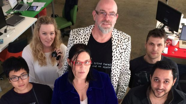 Rob Gillan (centre) with the team at dZhON.