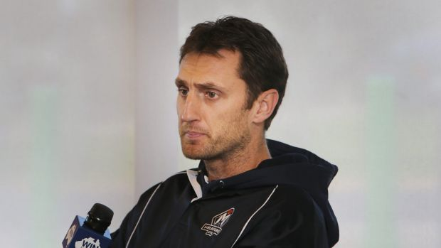 Time to go: Chris Anstey has quit as coach after just one game.