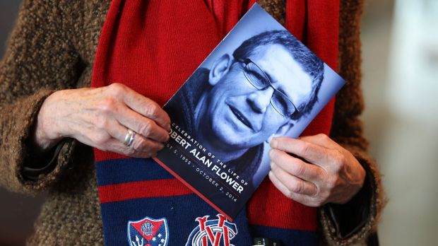 Fans attend the memorial service for the Melbourne great.