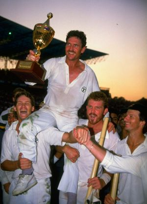 Australia after defeating India at Chennai in the 1987 World Cup.
