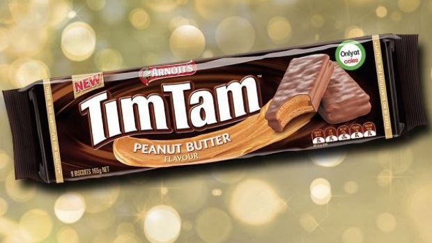 """""""No actual peanuts, fewer biscuits"""": the recently released Tim Tam flavour."""