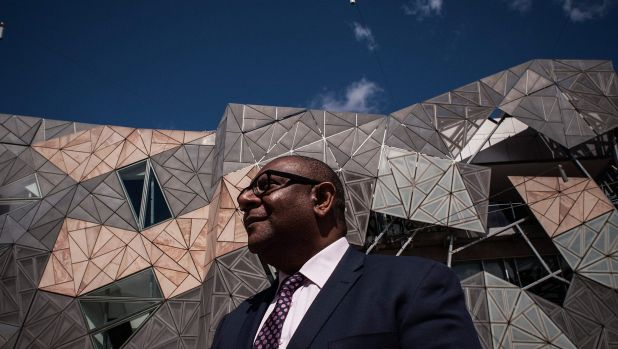 Delighted: Koorie Heritage Trust chief executive Tom Mosby is thrilled that at last the trust can move from its shabby ...