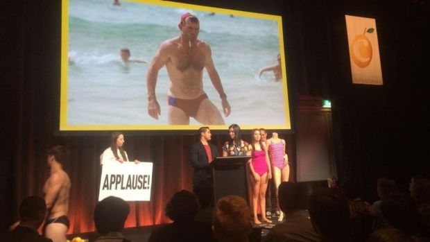"""""""UnAustralian"""": a cozzie that turns see-through when wet is lampooned at the presentation."""