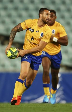 Back in action: Quade Cooper has been selected in the Wallabies squad to face New Zealand.