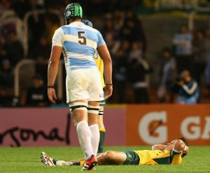 Matt Toomua was forced off the ground after being hit against Argentina, but can't remember taking cognitive tests on ...
