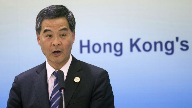 Audacious: Hong Kong Chief Executive Leung Chun-ying.