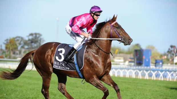Derby date: Rich Enuff looks set for a tilt at the Coolmore Stud Stakes.