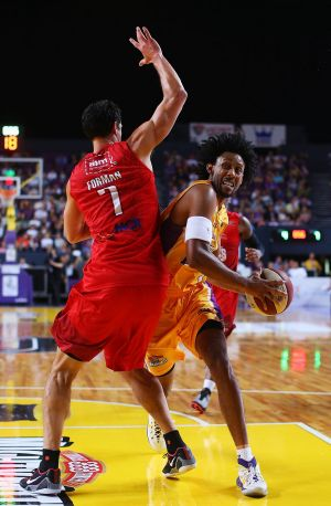 Hard to handle: Kings forward Josh Childress will make his return from suspension against Wollongong.