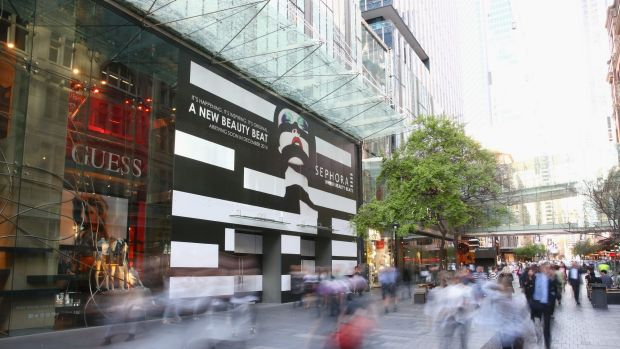 Sephora beat: A general view is seen outside the soon to be opened Sephora store on Pitt Street .