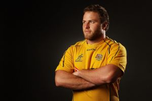 A bulked-up Dan Palmer, at his playing peak for the Wallabies in 2012.