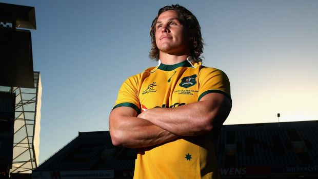 Moment of truth: Wallabies captain Michael Hooper.