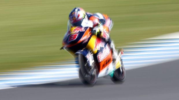 Jack Miller during free practice for the 2014 MotoGP at Phillip Island.