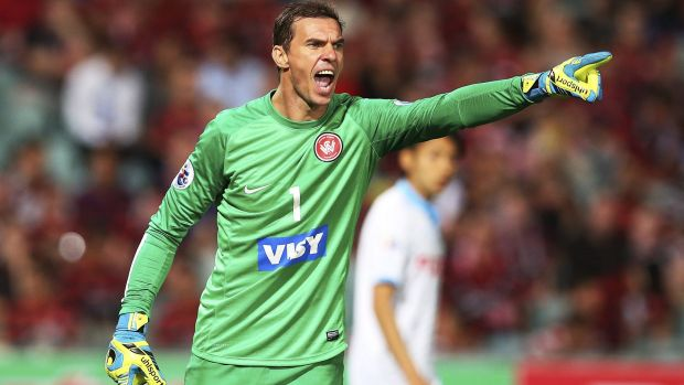 Not happy: Wanderers goalkeeper Ante Covic.
