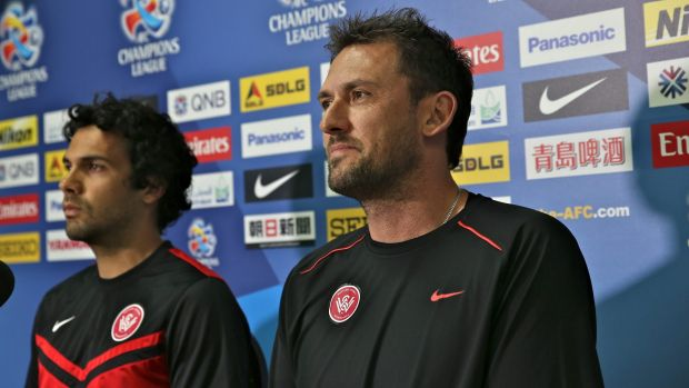 Newcastle signing Nikolai Topor-Stanley, left, will use his experience of working with Wanderers coach Tony Popovic to ...