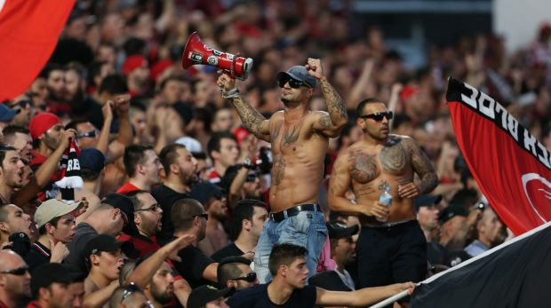 Bloc party: The Wanderers' fans have quickly earned a reputation as the most vibrant and boisterous in the league.