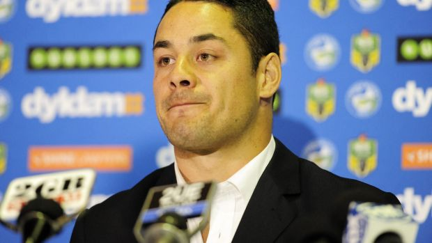 Gutsy move: Jarryd Hayne announces his decision.