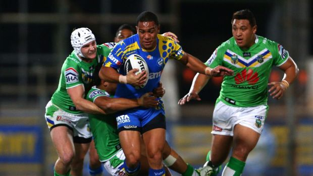 Still got it: Will Hopoate has earned kudos for his performance at Parramatta after his return from a Mormon mission.