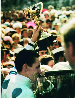 Roy Higgins soon after he won the Melbourne Cup on LIghtfingers in 1965.