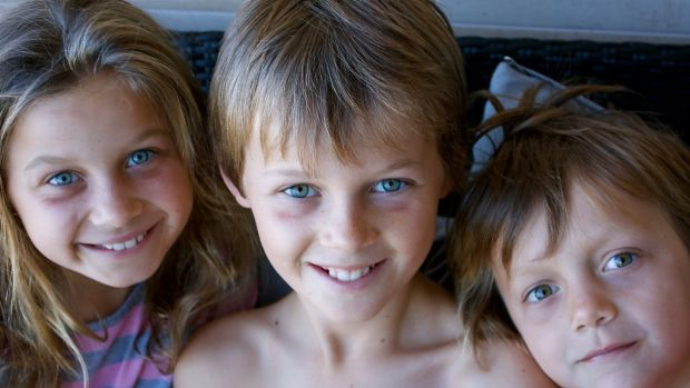 Lost on flight MH17: the Maslin children. From left, Evie, Mo and Otis.