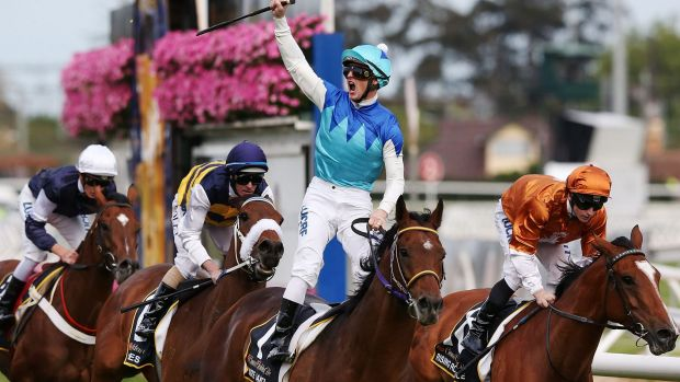 Admire Rakti wins the Caulfield Cup - but will he be there for the big one in November?