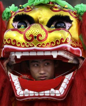 Don't miss the lion dancing at Chinese New Year celebrations.