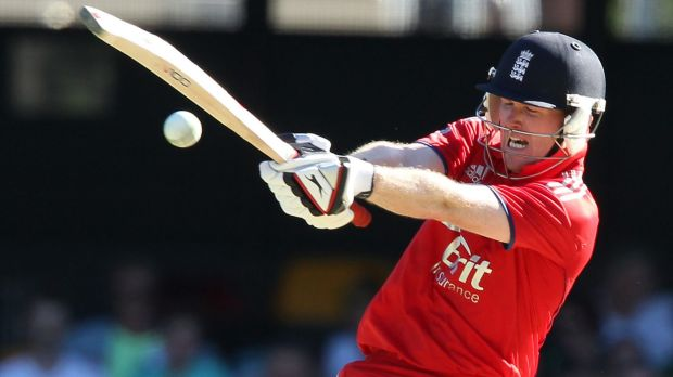 Defending his mate: English batsman Eoin Morgan believes Kevin Pietersen has been treated harshly since the release of ...