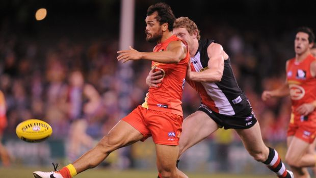 Karmichael Hunt made an impact in the AFL's Gold Coast Suns, although his final season was hampered by injuries.