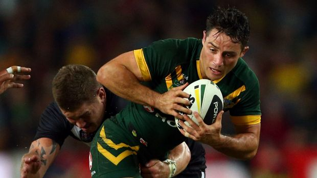 Thinking outside the square: Kangaroos halfback Cooper Cronk.