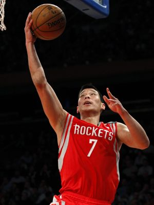 Rockets stint: Jeremy Lin drives to the basket during his two-year sojourn in Houston.