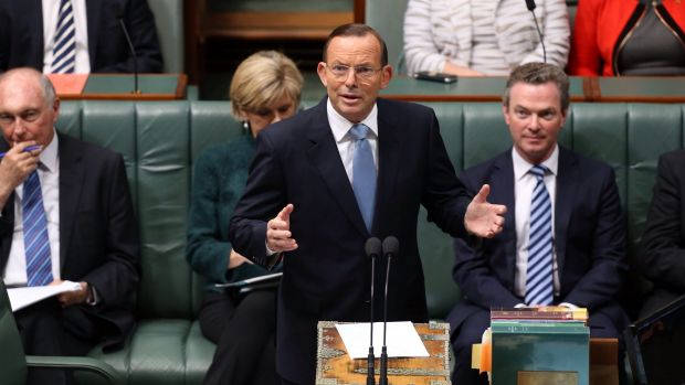 Prime Minister Tony Abbott moved a condolence motion for former Prime Minister Gough Whitlam at Parliament House.