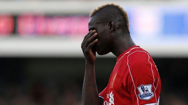 Under pressure: Struggling Liverpool striker Mario Balotelli.