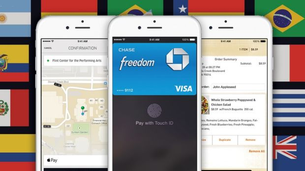 Apple Pay will work in countries outside the US, as long as you have a credit card issued by a US bank.
