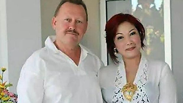 Robert Kelvin Ellis, pictured with his wife Julaikah Noor Aini.