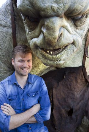 Weta animation supervisor David Clayton with a troll from the first <i>Hobbit</i> movie at Weta Cave, Wellington in New ...