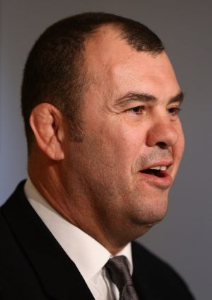 Excited: Michael Cheika.