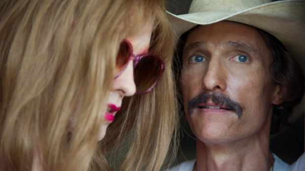 <i>Dallas Buyers Club</i>, starring Matthew McConaughey (right) as Ron Woodroof and Jared Leto as Rayon.