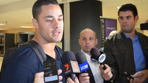"""Jarryd Hayne is a """"rugby"""" star in the USA."""