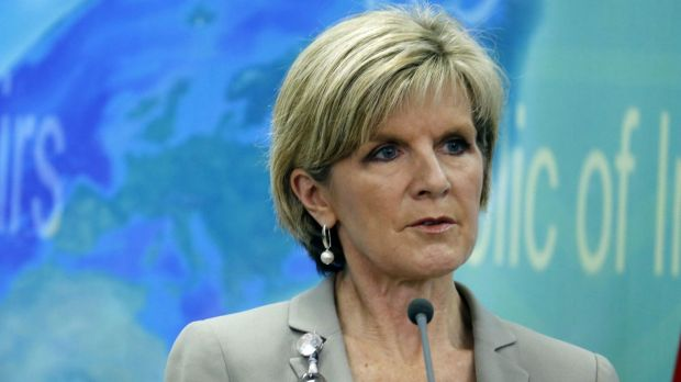"""Concerns: Julie Bishop has made """"personal contact"""" with Indonesia's Foreign Minister Retno Marsudi."""