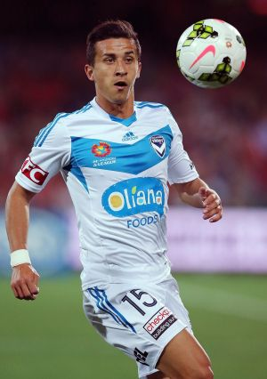 New challenge: Daniel Georgievski in action for Melbourne Victory against Adelaide