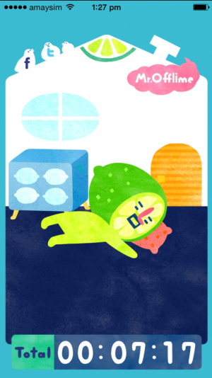 Mr Offlime gets bored and takes a nap.